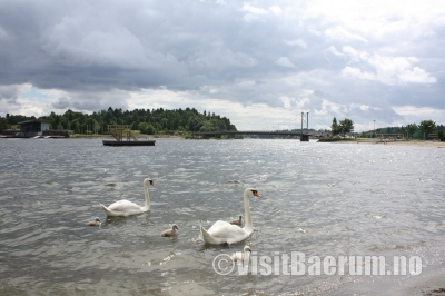 The new water park at Kadettangen beach outside Sandvika.